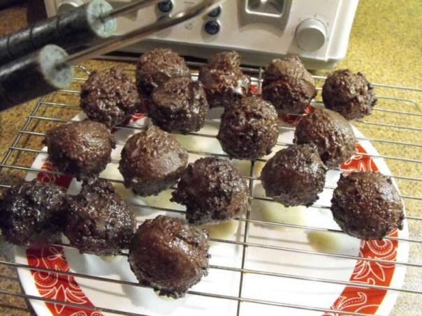 Chocolate Cake Donut Bits,home baking