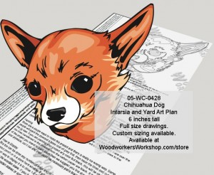 Chihuahua Dog Woodworking Pattern,woodworrking plans,dogs,pets,breeds,animals