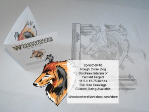 Rough Collie Scrollsaw Intarsia or Yard Art Woodworking Pattern