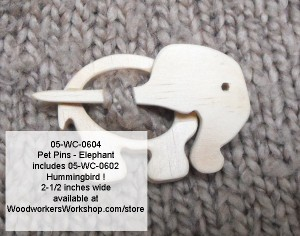 woodworking plans,patterns,PDF,downloads,elephants,pet pins