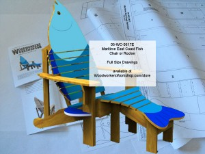 Maritime East Coast Fish Chair and Rocker Full Size Woodworking Plan