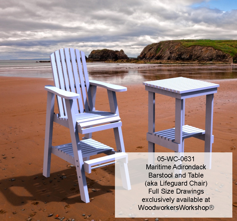 Maritime Bar Stool and Table Combo Full Size Woodworking Plans