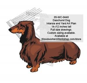 Daschund Dog Intarsia or Yard Art Woodworking Pattern