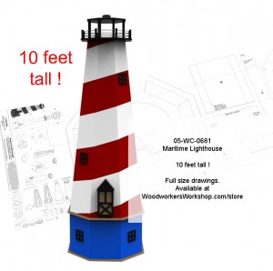 woodworking  plans,large scale lighthouses