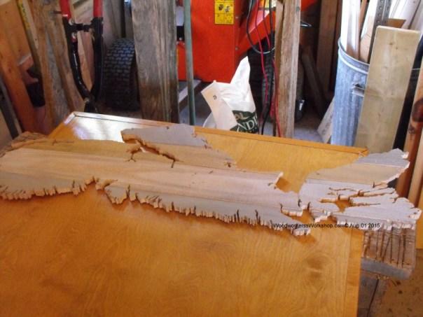 wooden map of Nova Scotia,crafts,hobby