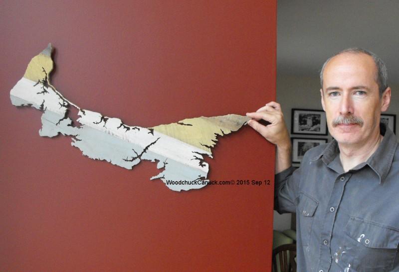 woodworking,scrollsawing,maps,Prince Edward Island