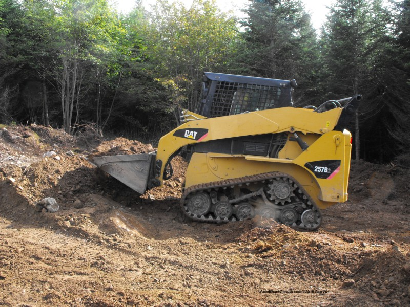 landscaping,forestry,digging,cat 257B2