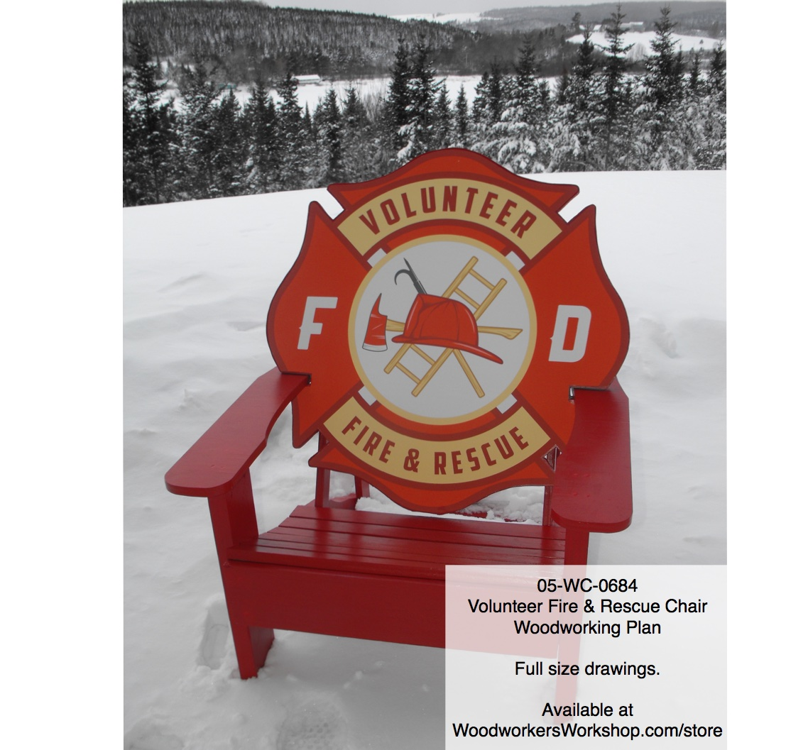 Volunteer Fire Amp Rescue Adirondack Style Chair