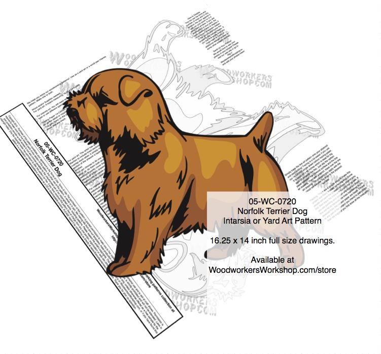 Norfolk Terrier Dog Intarsia Or Yard Art Woodworking Pattern Woodchuckcanuck Com