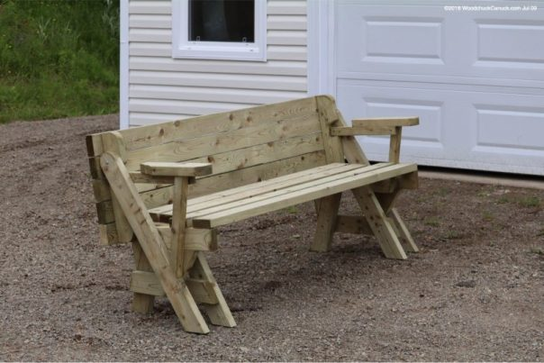 folding bench picnic table,made locally,Nova Scotia,carpentry,woodworking
