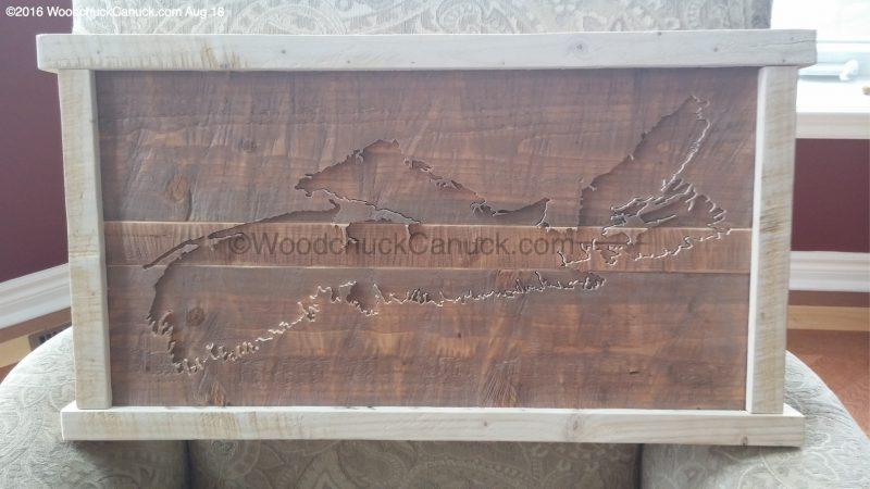 wood maps,Nova Scotia,scrollsawing