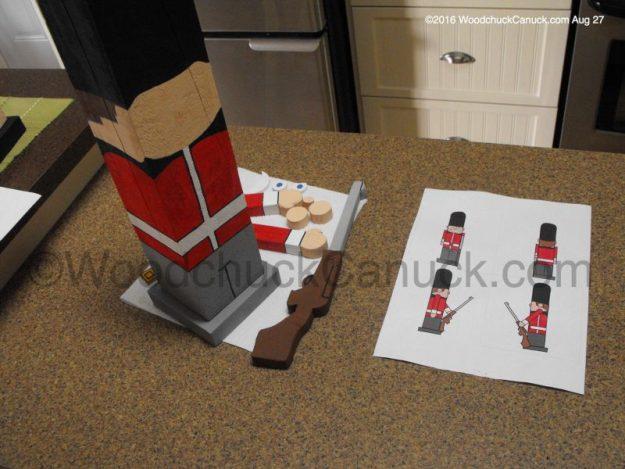 Royal Guardsman,woodworking,timber people,Buckingham Palace,crafts