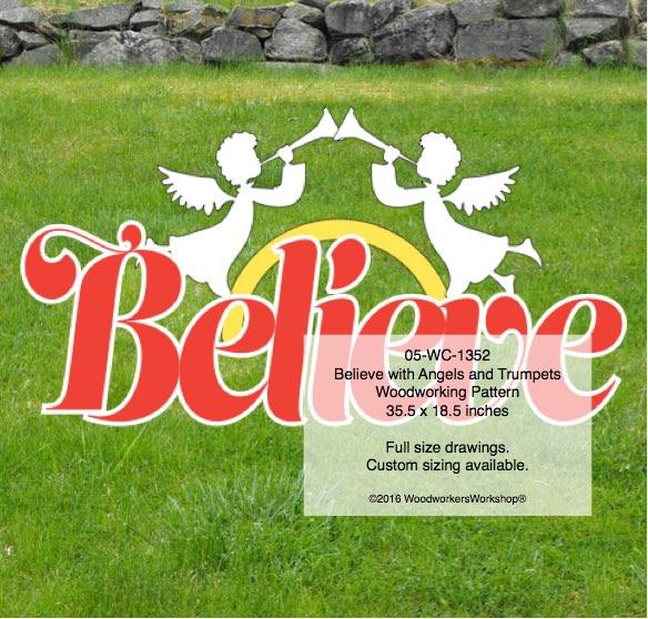 Believe,Christmas season,decor,yard art,plywood,woodworking