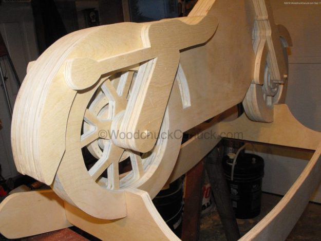 motorcycle rocker,childrens furniutre,plywood,woodworking plans,projects