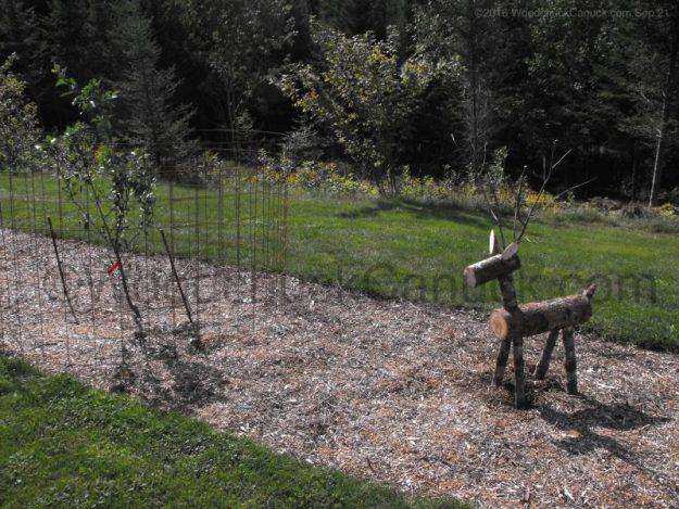 woodworking,log reindeer,landscaping
