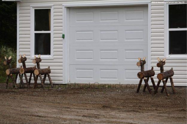 reindeer logs,woodworking,forestry,landscape decor