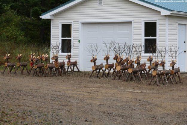 log reindeer,wod crafts,made in Nova Scotia