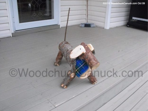 Dachshunds,Log Dogs,wood crafts,made in Nova Scotia