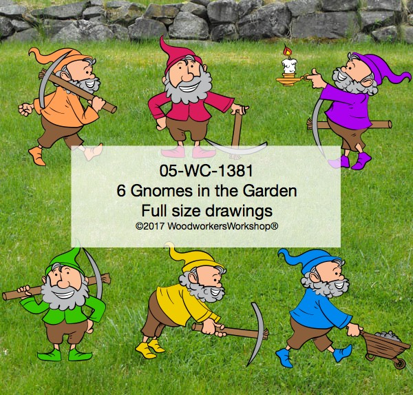 fun woodworking patterns,gnomes,gardens,gardening