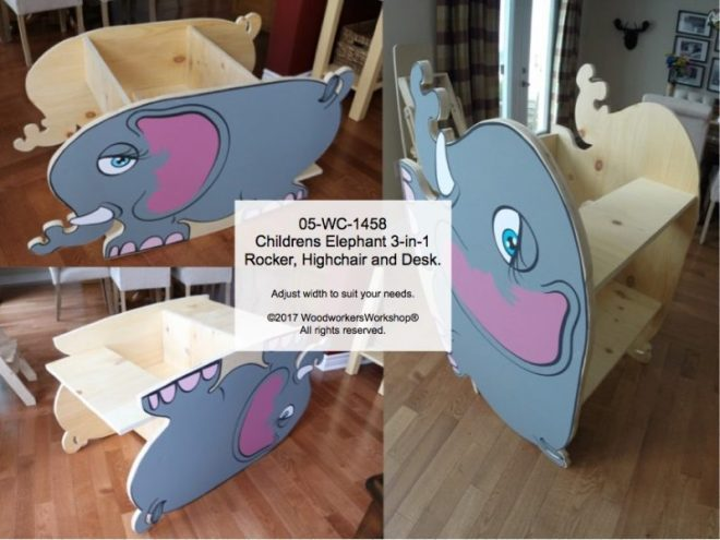 elephants,children,kids,furniutre,highchairs,desks,rockers,