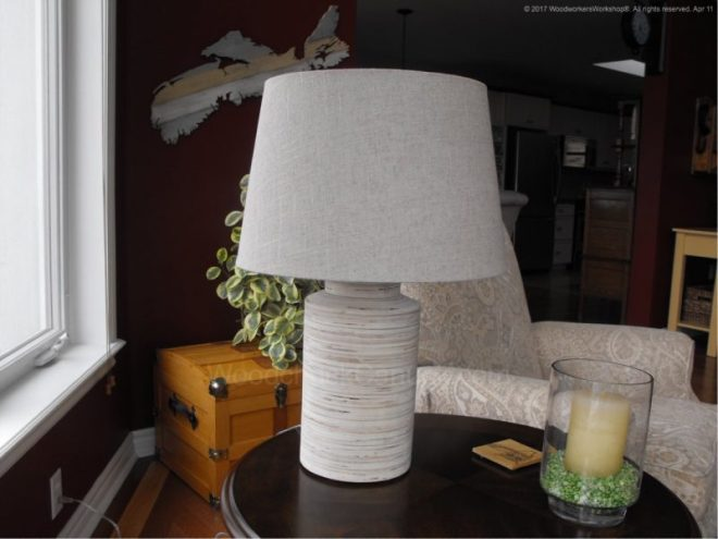 DIY plywood lamp base, build it yourself, made in Nova Scotia