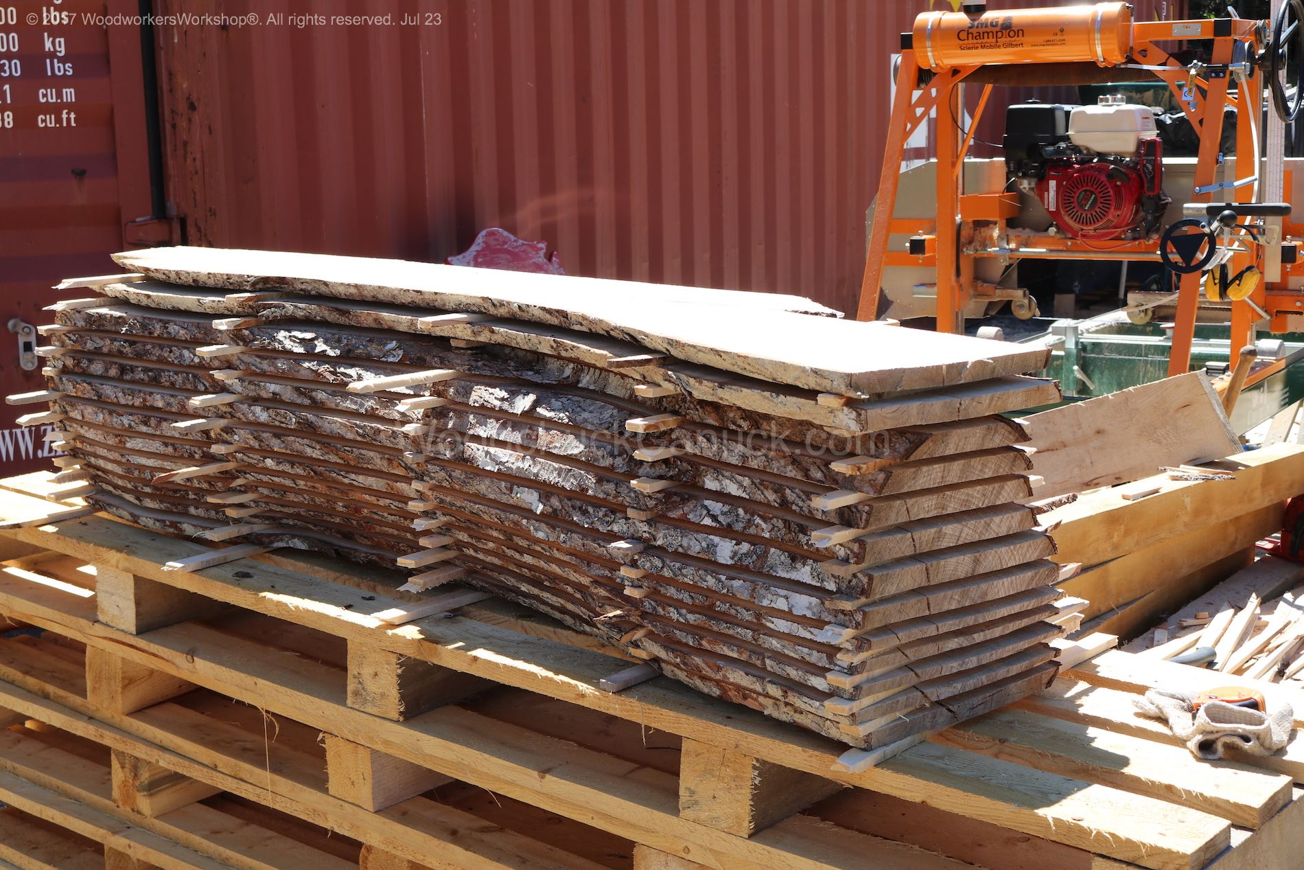 stacked and stickers sugar maple