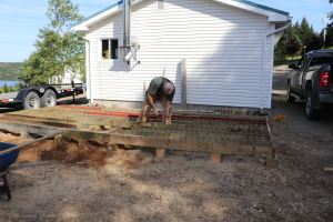 recycled 2x6 deck joists