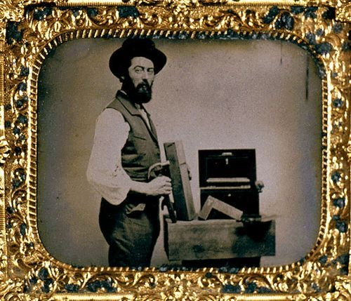 1860s Photogragh of an American Woodworker