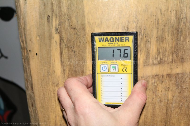 blue stained pine,thick live edge,moisture meters,measuring moisture content,woodworking,carpentry,tools,metre