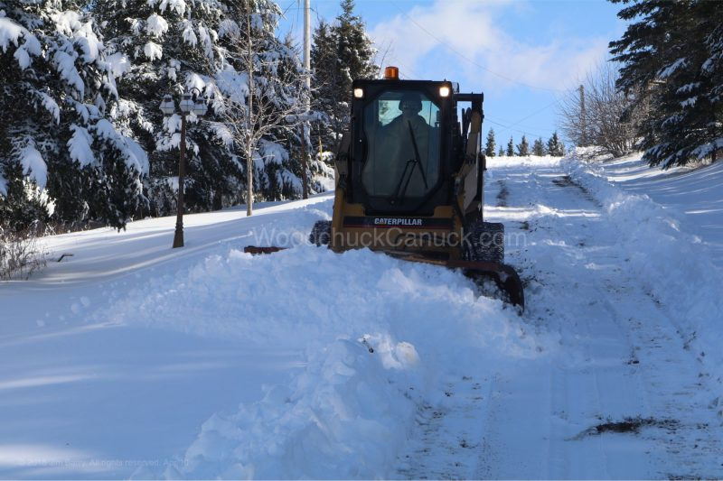 skidsteer,plowing,snow