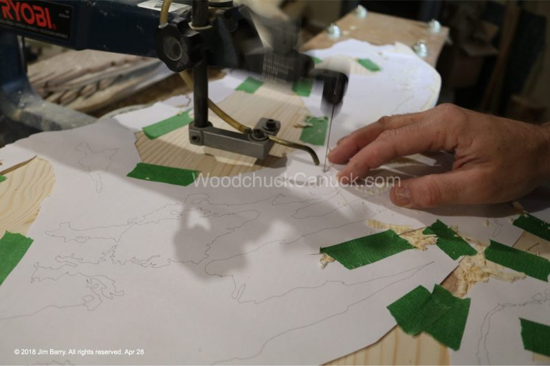 scroll saw,wood map,cape breton map