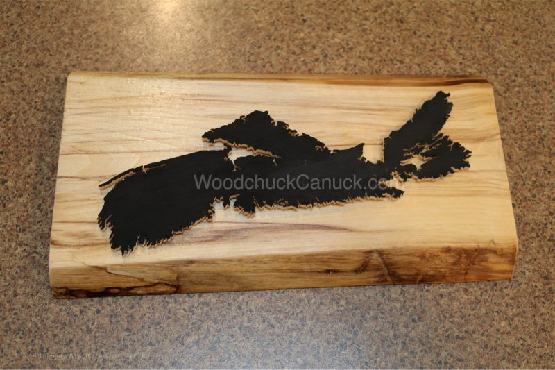 wooden maps, Nova Scotia