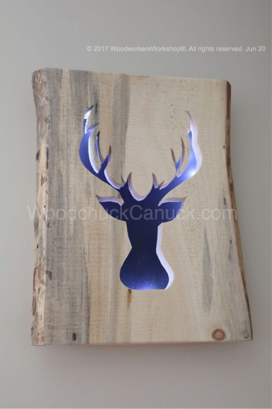 arts and crafts, Made in Nova Scotia, light box, deer, hunting,silhouettes