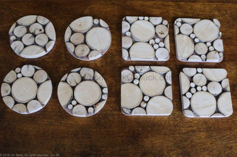 wood slice coasters,crafts