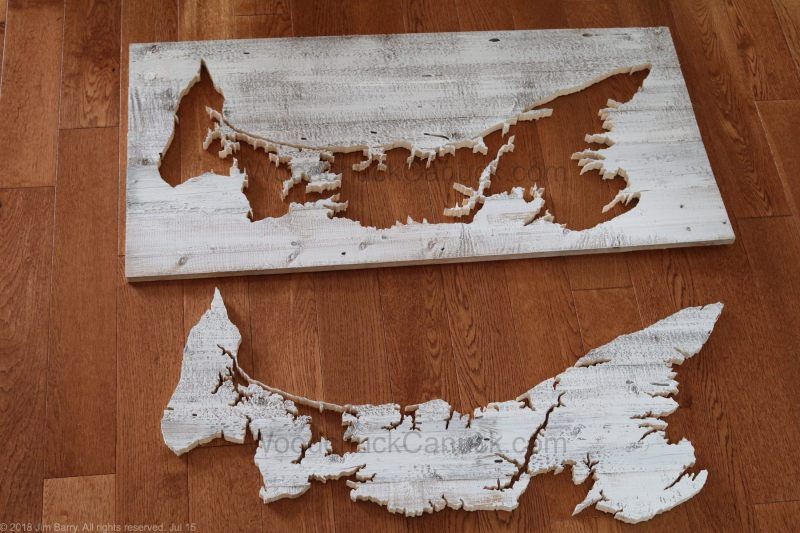 wood map of PEI