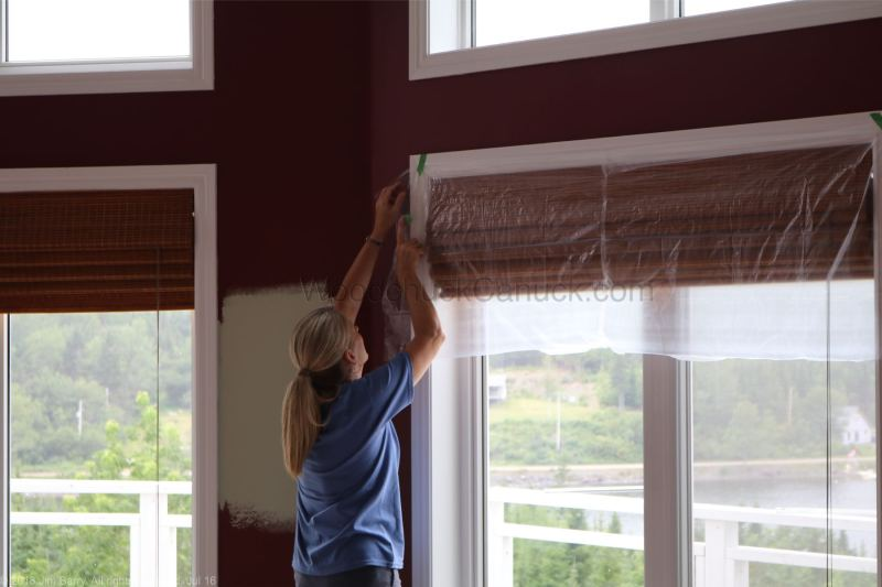 painting the livingroom