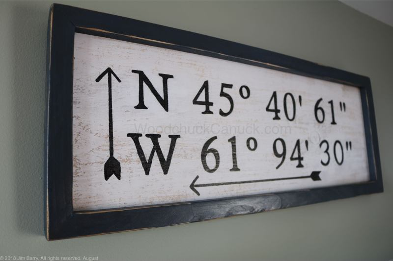 DIY GPS coordinates sign