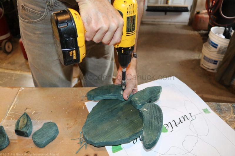 DIY wood turtle