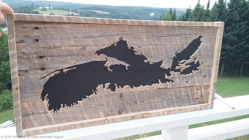 wood maps,woodworking,Antigonish,Nova Scotia,Loch Katrine