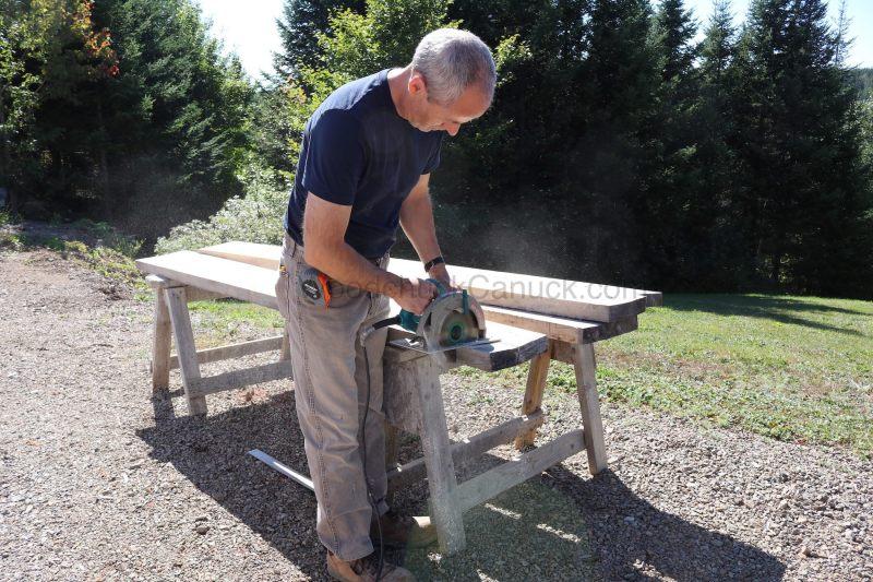 Cutting poplar boards