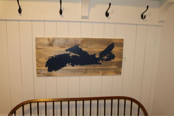 Buy our Nova Scotia wood map 32x15""