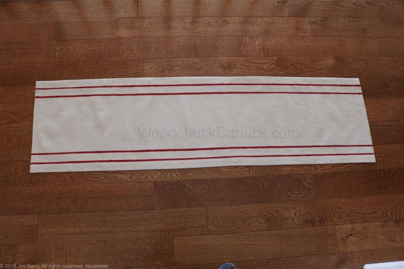 grain sack table runner,DIY,drop cloth table runner