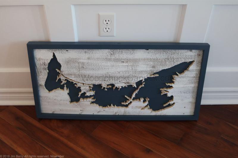 wood maps,ns maps,scroll saw,PEI map