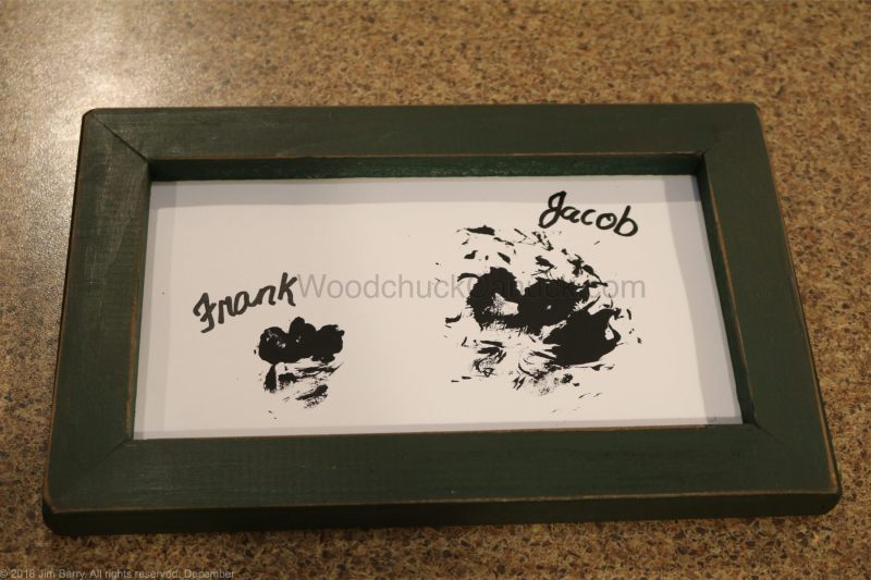 DIY,paw prints,framed paw prints,dog prints
