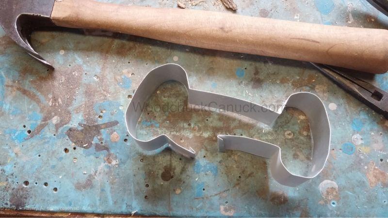 how to make a bone shaped cookie cutter, home made, diy, Antigonish County, Guysborough County, Nova Scotia
