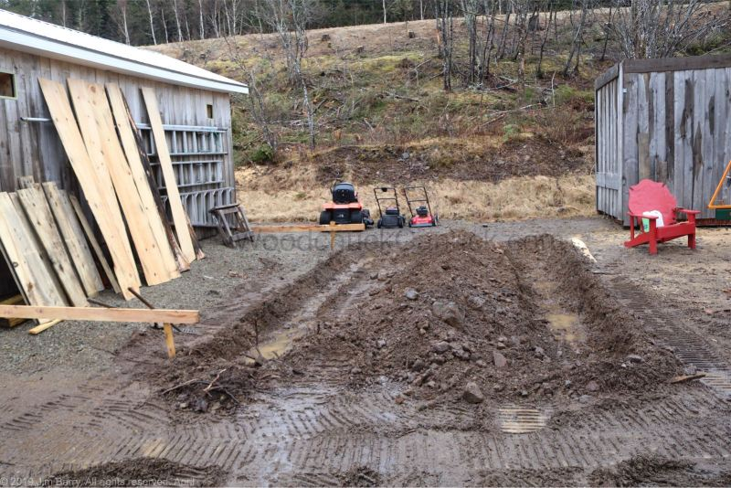 diy shed building, skidsteer attachments, backhoe, digging, Antigonish County, Nova Scotia, Guysborough County