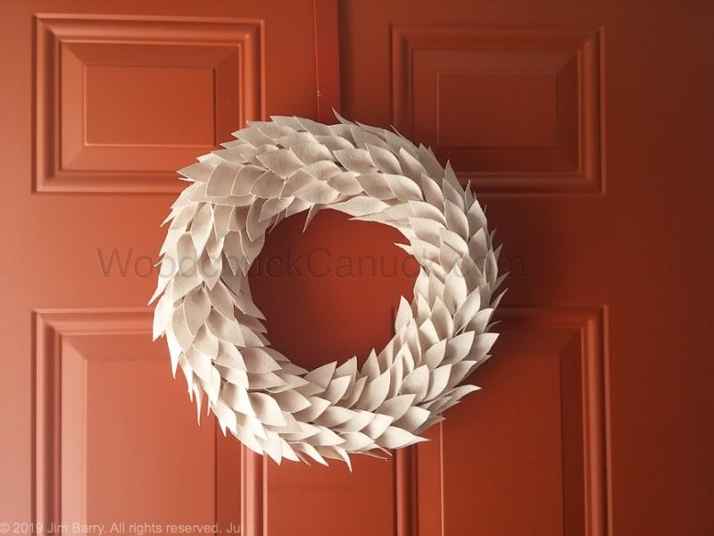 How to make your own drop cloth wreath.