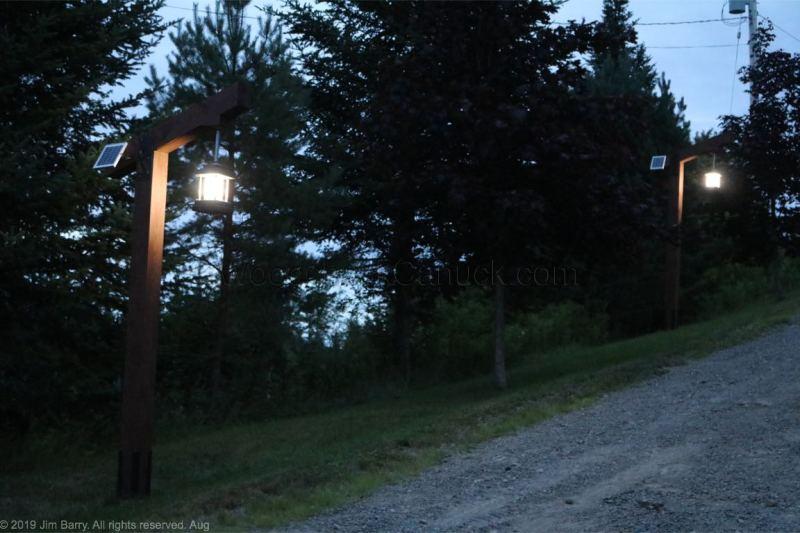 solar powered driveway lights.