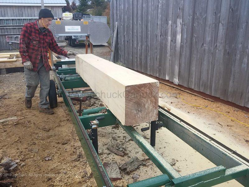 Sawmilling logs and custom cuts.