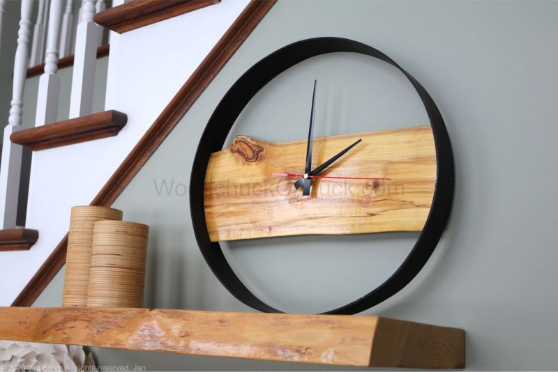 DIY Live Edge Clock